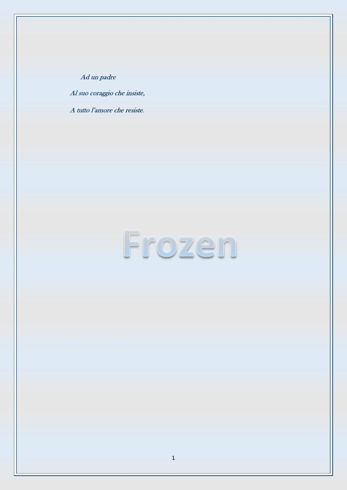 Frozen ovvero l'arte di essere padri